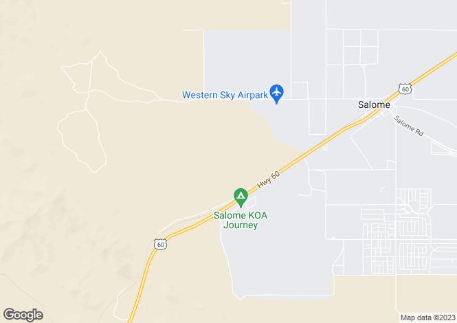 Map for Arizona, La Paz County, Salome