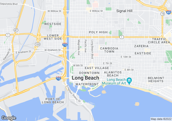 Map for USA - California, Los Angeles County, Long Beach