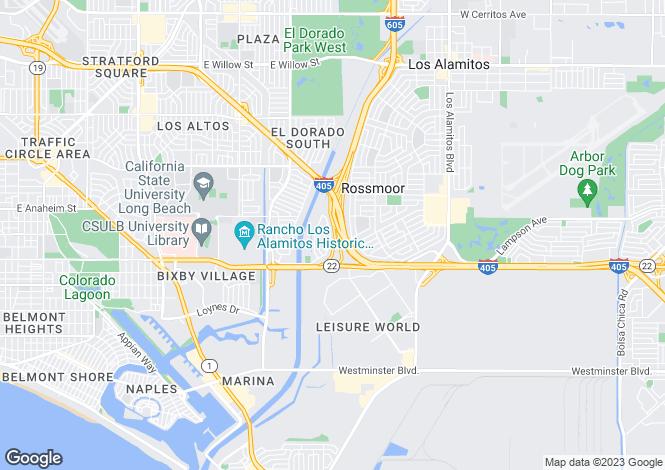 Map for USA - California, Orange County, Seal Beach