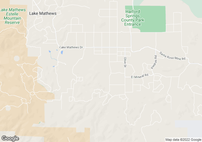 Map for California, Riverside County, Perris