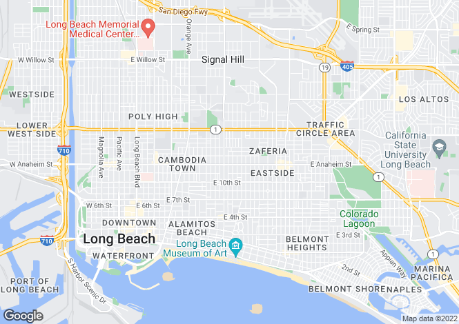 Map for California, Los Angeles County, Long Beach