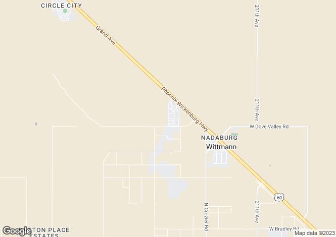 Map for Arizona, Maricopa County, Wittmann