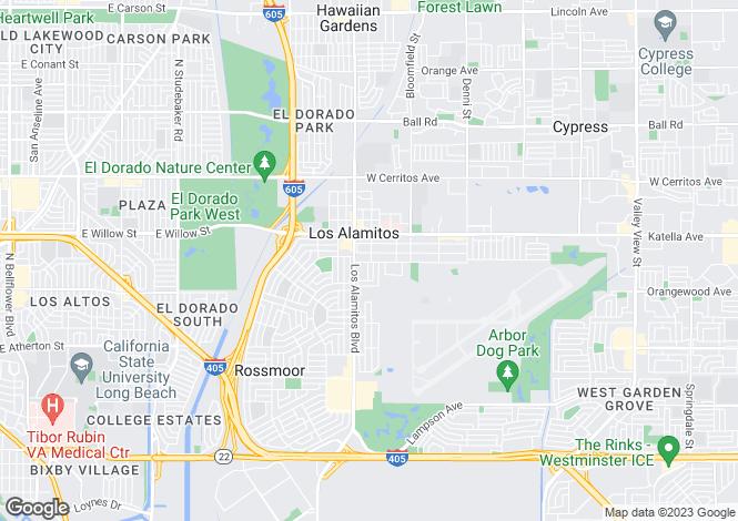 Map for USA - California, Orange County, Los Alamitos
