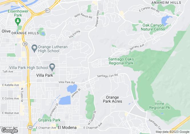 Map for California, Orange County, Orange
