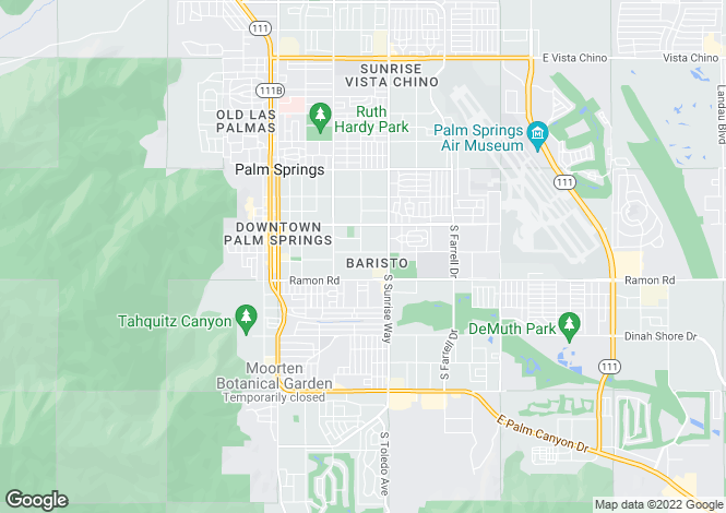Map for California, Riverside County, Palm Springs