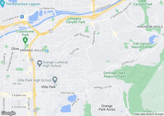 Map for California, Orange County, Villa Park