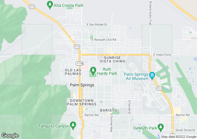 Map for USA - California, Riverside County, Palm Springs