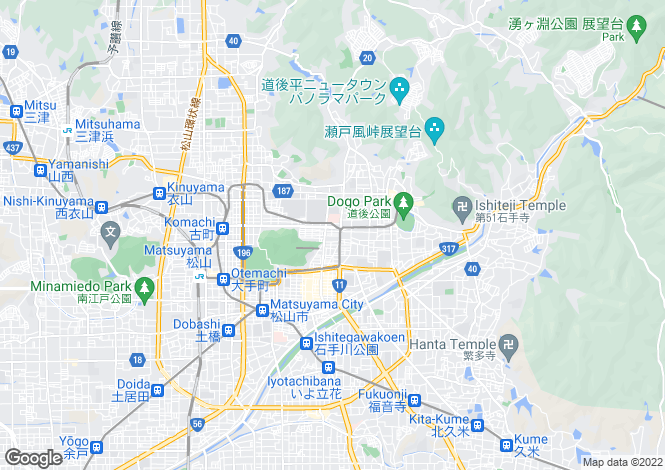 Map for Ehime