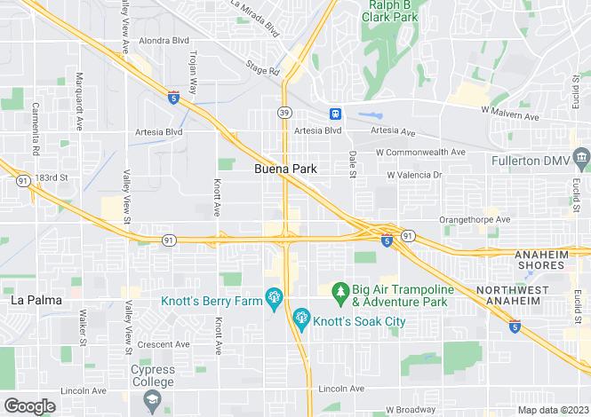 Map for California, Orange County, Buena Park