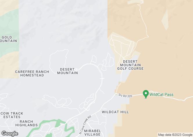 Map for Arizona, Maricopa County, Scottsdale