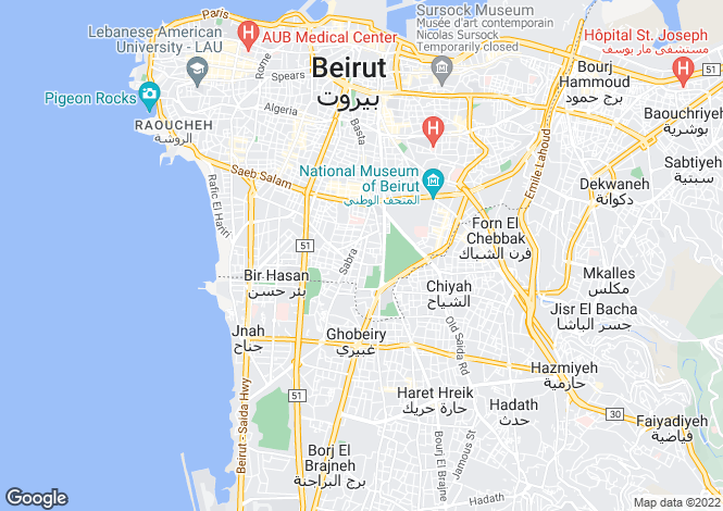 Map for Beirut, Beirut