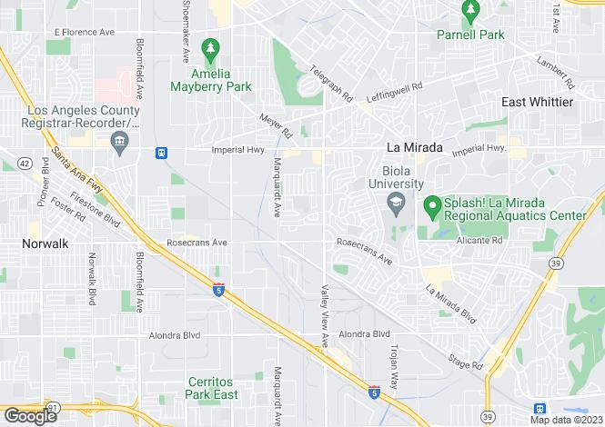 Map for USA - California, Los Angeles County, La Mirada