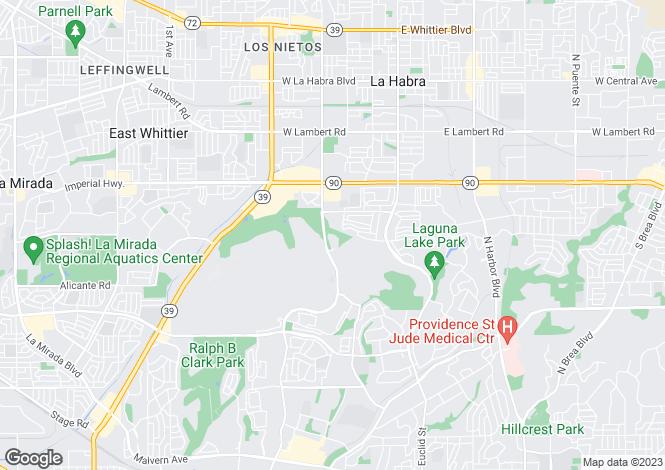 Map for USA - California, Orange County, La Habra