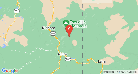 map of Escudilla Mountain (United States of America)