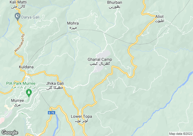 Map for Murree, Punjab