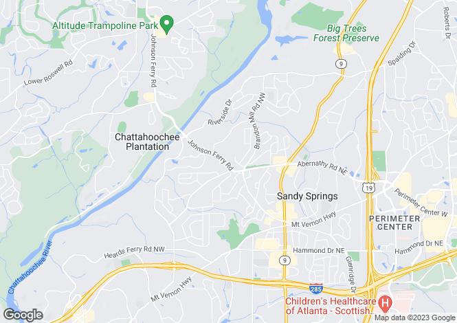 Map for USA - Georgia, Fulton County, Sandy Springs