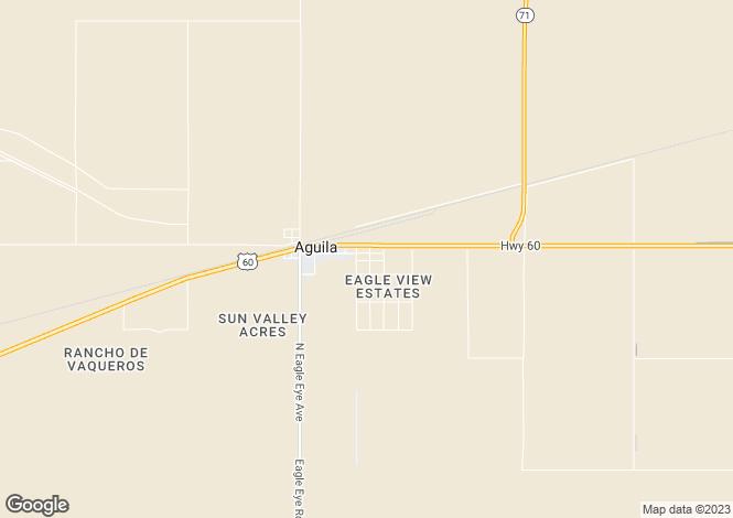 Map for Arizona, Maricopa County, Aguila