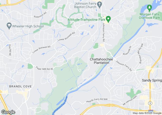 Map for USA - Georgia, Cobb County, Marietta