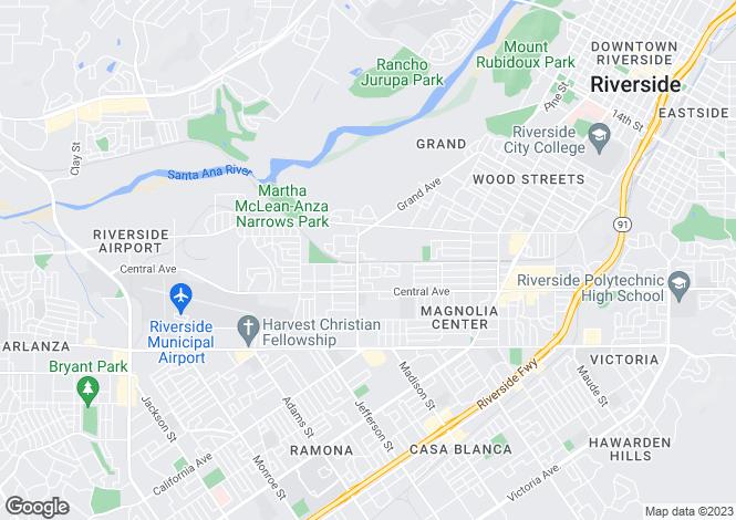 Map for California, Riverside County, Riverside
