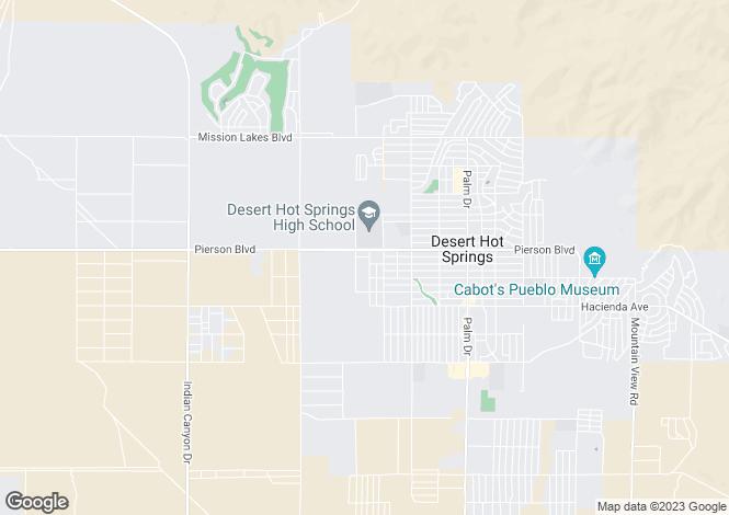 Map for California, Riverside County, Desert Hot Springs