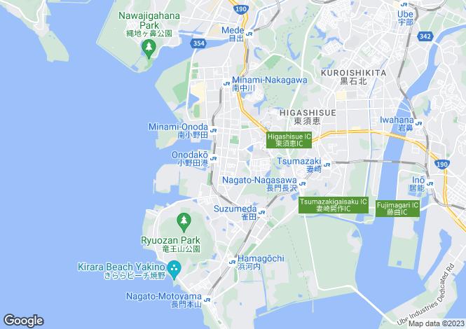 Map for Yamaguchi