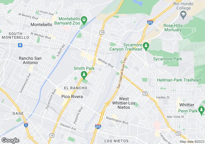 Map for USA - California, Los Angeles County, Pico Rivera