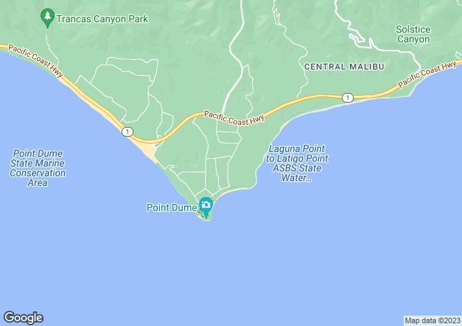 Map for California, Los Angeles County, Malibu
