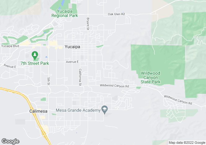 Map for California, San Bernardino County, Yucaipa