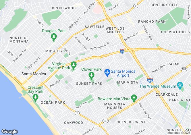 Map for California, Los Angeles County, Santa Monica