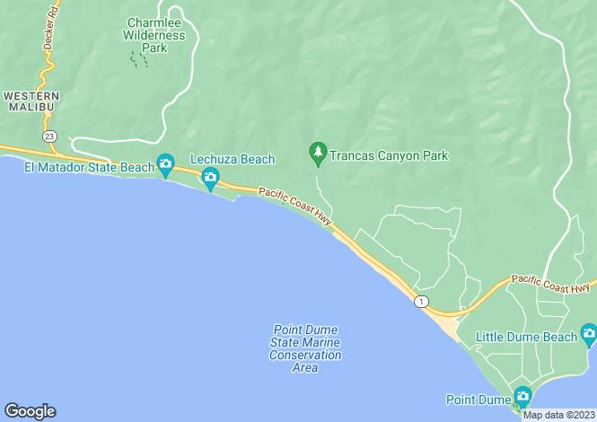 Map for USA - California, Los Angeles County, Malibu