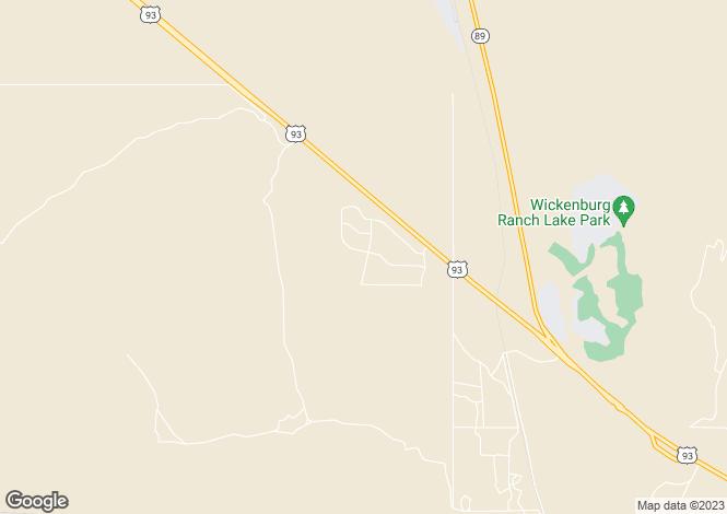 Map for Arizona, Maricopa County, Wickenburg