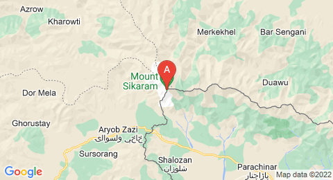 map of Mount Sikaram (Pakistan)