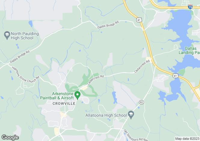 Map for USA - Georgia, Cobb County, Acworth