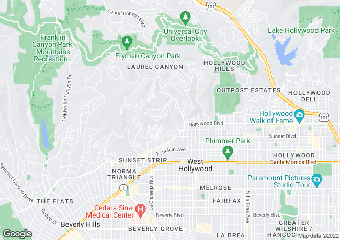 Map for Woods Drive, Los Angeles, California