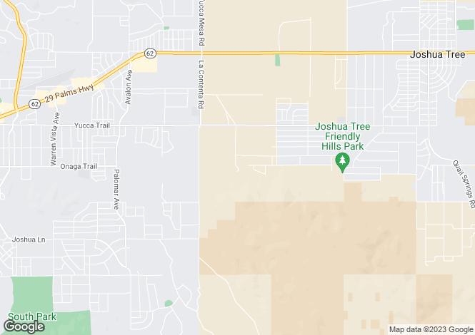 Map for California, San Bernardino County, Joshua Tree
