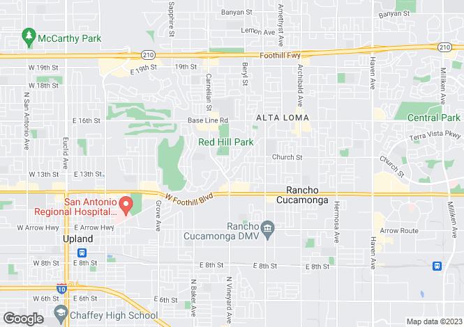 Map for California, San Bernardino County, Rancho Cucamonga