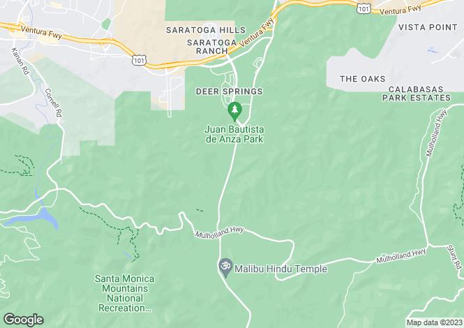 Map for California, Los Angeles County, Calabasas