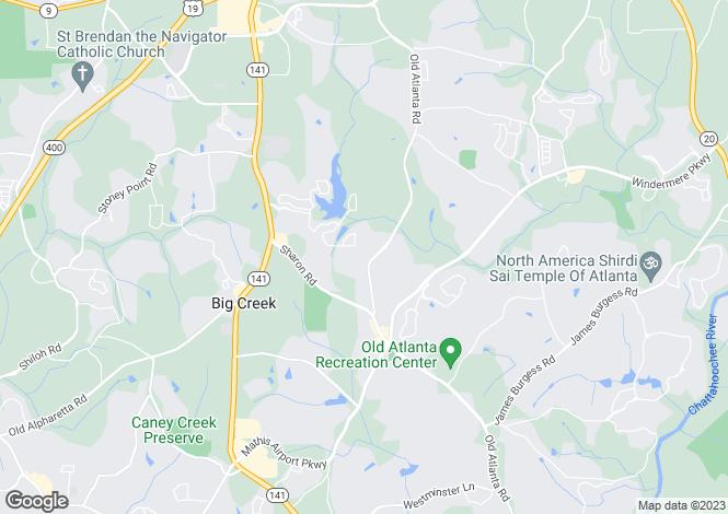 Map for USA - Georgia, Forsyth County, Cumming