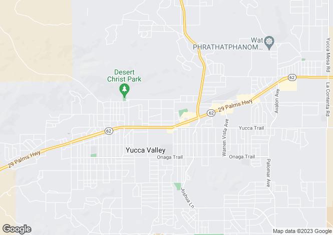 Map for California, San Bernardino County, Yucca Valley