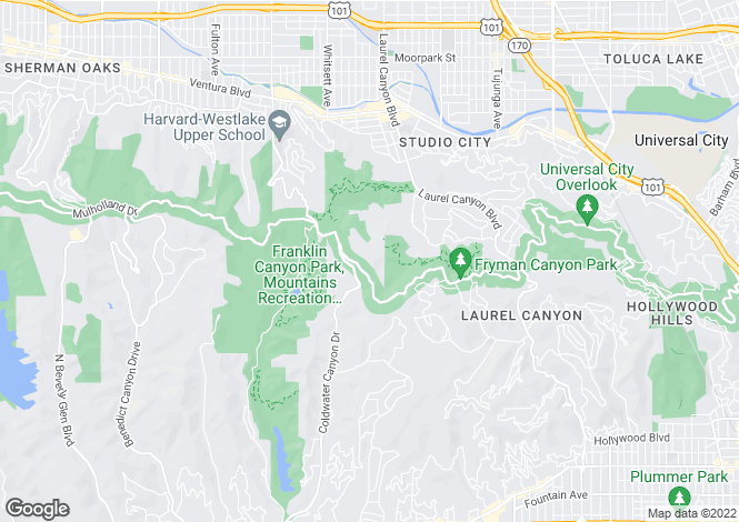 Map for California, Los Angeles County, Beverly Hills