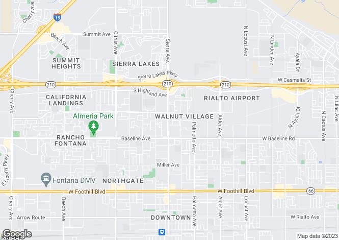 Map for California, San Bernardino County, Fontana