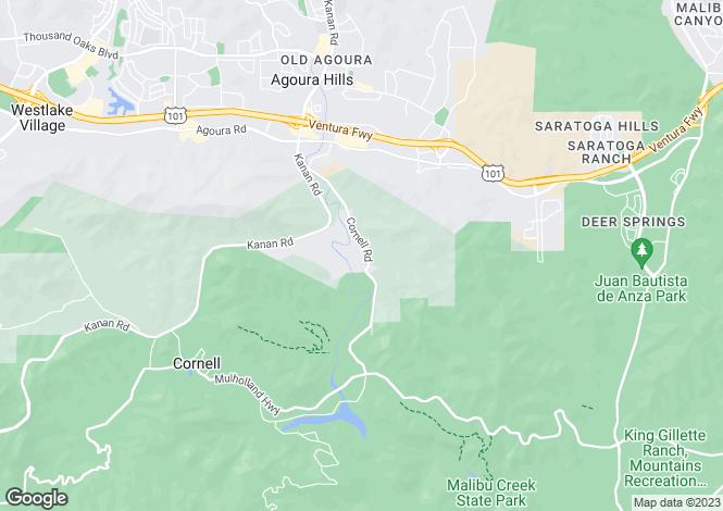 Map for USA - California
