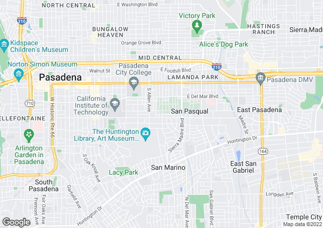 Map for USA - California, Los Angeles County, San Marino