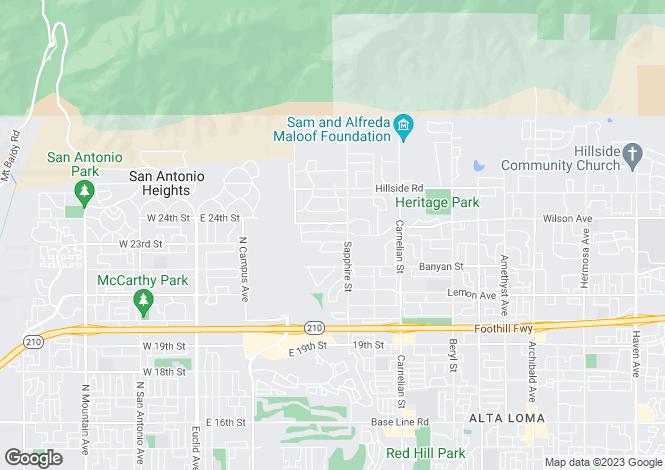 Map for USA - California, San Bernardino County, Rancho Cucamonga