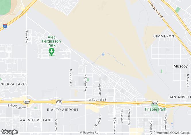 Map for California, San Bernardino County, Rialto
