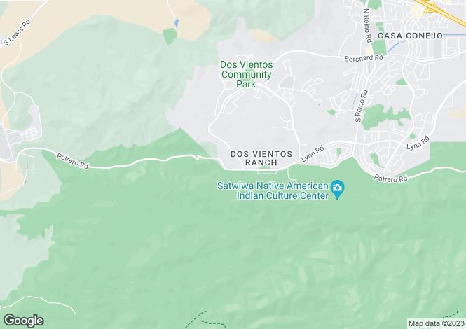 Map for USA - California, Ventura County, Newbury Park