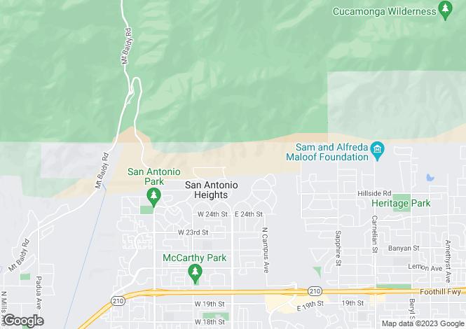 Map for California, San Bernardino County, Upland