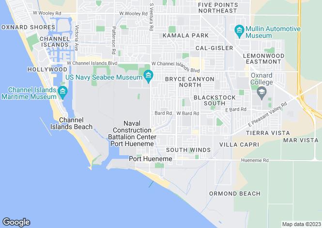 Map for California, Ventura County, Port Hueneme
