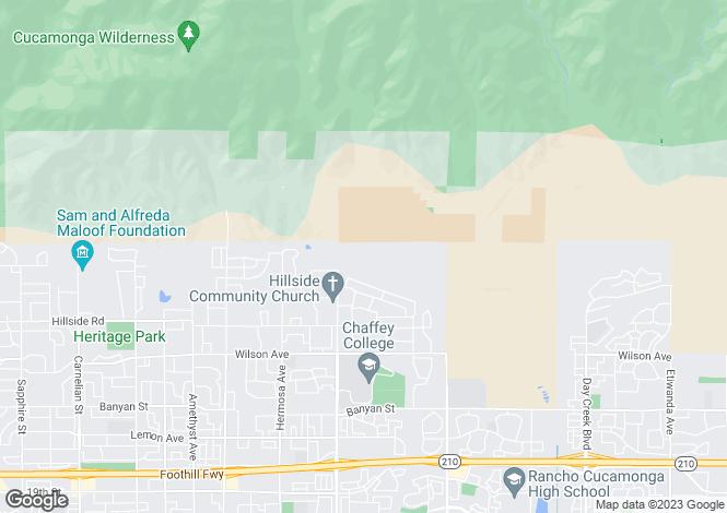 Map for California, San Bernardino County, Alta Loma