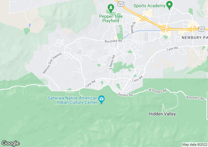 Map for USA - California, Ventura County, Newbury Park